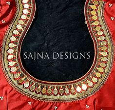 Saree Blouse Neck Designs, Bridal Blouse Designs, Latest Maggam Work Blouses, Mirror Work Blouse Design, Blouse Designs Catalogue, Maggam Work Designs, Back Neck Designs, Fancy, Textiles