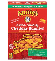 Extra Cheesy Cheddar Bunnies - Annie's Homegrown #RockTheLunchBox
