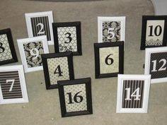 Wedding Table Number Ideas