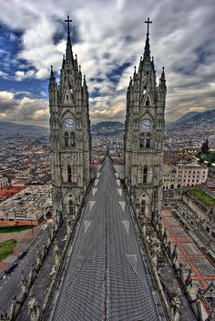 Quito, Ecuador. going here was such a neat experience & i think i have a picture just like this! :)