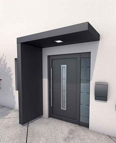 Ideas Front Door Porch Canopy House For 2020 House Design, Modern Entrance Door, House With Porch, House Entrance, Modern Porch, House Doors, Porch Design, Front Door Porch, Porch Canopy
