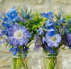wedding flowers in jam jars - Google Search