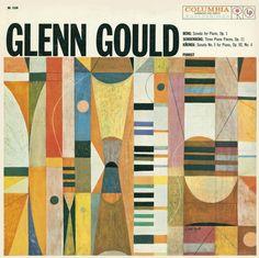 S. Neil Fujita, cover artwork for Glenn Gould, 1959. Columbia Records