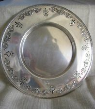 Early 1900s Benedict USA Pierced Rolled Edge Silverplate Charger Plate 11.25