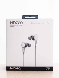 HD720 earphone white packaging box