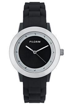 Pilgrim Uhr silvercoloured/black Accessoires bei Zalando.de   Accessoires jetzt versandkostenfrei bei Zalando.de bestellen!