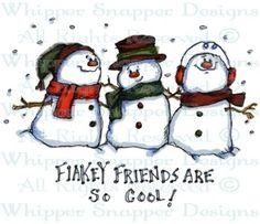 Flakey Friends - Snowmen Images - Snowmen - Rubber Stamps - Shop