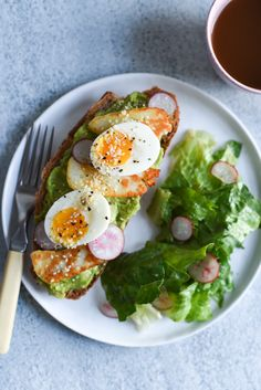 The Breakfast Club: Ultimate Avocado Tartine with Fried Halloumi Cheese and 6-Minute Eggs