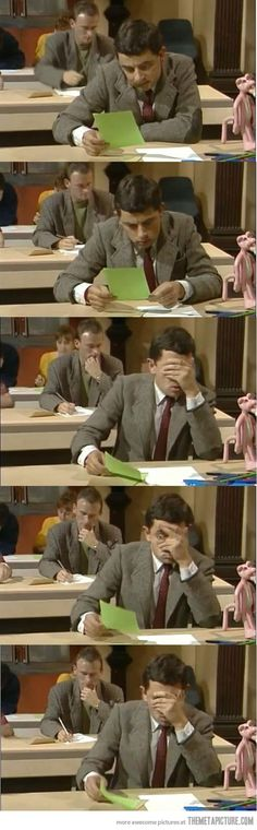 My reaction when I see my exam... - The Meta Picture