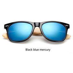 2017 Retro Bamboo Mirrored Sunglasses