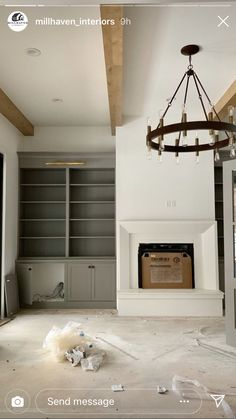 Fireplace Built Ins, Home Fireplace, Fireplace Remodel, Fireplace Surrounds, Fireplace Design, Fireplaces, Living Room Remodel, My Living Room, Built In Cabinets