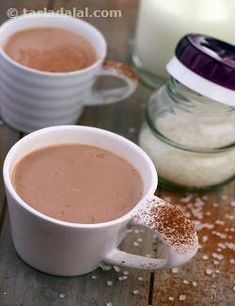 If you are the kind that loves to sprinkle some extra cocoa and cinnamon on your hot chocolate as soon as you collect it from the counter, then this Mexican Hot Chocolate will be just perfect for you! Vanilla essence serves to deepen the flavour of this richly brewed hot chocolate while cinnamon gives it a heady aroma. Don't forget the pinch of salt, because it helps highlight the flavours in the recipe and also has a secret effect on the texture. You will just love it!