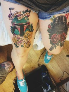 Boba Fett And Darth Vader Star Wars Tattoo By Bryan At American Tattoo