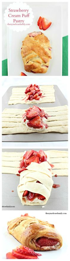 Strawberry Cream Puff Pastry -- Easy Recipe
