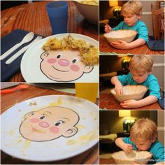 These plates are great for feeding therapy! Repinned by ReImagine Speech and Language Therapy Telepractice, PLLC. Check us out at Reimaginespeech.com