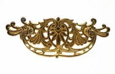 Bronze drawer pulls Description Set of two drawer pulls have fancy detailing and cutouts and the handles have a cutout motif.