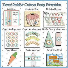 Peter Rabbit Baby Shower Kit