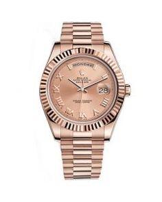 Rolex Day-Date II President Oro rosado Fluted Bezel Replica