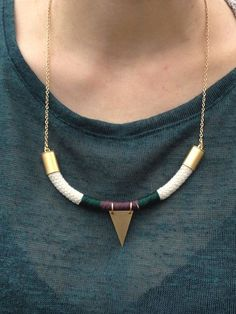geometric rope necklace , cord necklace,geometric jewelry,boho jewelry,                                                                                                                                                                                 Plus