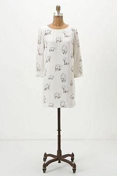 A dress with polar bears. Be still my beating heart. Arctic Mini Dress | Anthropologie.eu