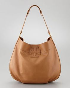 ShopStyle.com: Tory Burch Stacked T Hobo Bag, Tan $465.00