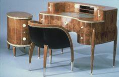 ruhlmann desk chair side cabinet 475x295x375 art deco desk chair office side armchair