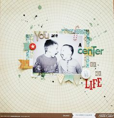 Love this! Journal: You are the center of my life! (middle of a circle element)