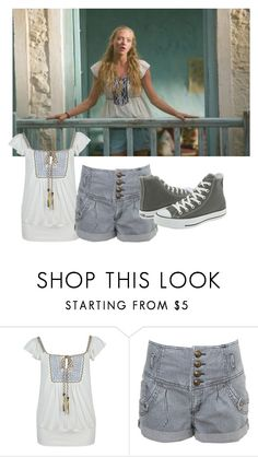 """Amanda Seyfried Mamma Mia#174"" by nikita-rae ❤ liked on Polyvore featuring Forever 21, Miss Selfridge and Converse"