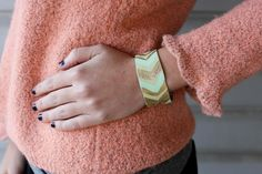 DIY painted leather cuffs....super cute and from an amazing blog which I warn...you will get lost in.