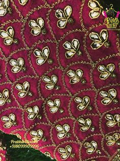 Colors & Crafts Boutique™ offers unique apparel and jewelry to women who value versatility, style and comfort. For inquiries: Call/Text/Whatsapp Zardosi Embroidery, Kurti Embroidery Design, Hand Work Embroidery, Embroidery Fashion, Hand Embroidery Designs, Beaded Embroidery, Embroidery Ideas, Embroidery Stitches, Wedding Saree Blouse Designs