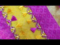 New type of khuchu design fr saree (kannada version) Saree Kuchu Designs, Blouse Designs, Hand Work Blouse Design, Diy Crafts Videos, Tassels, Brick, Marriage, Father, Sari
