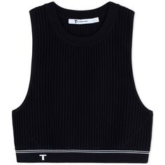T By Alexander Wang Top (€77) ❤ liked on Polyvore featuring tops, crop tops, shirts, black, shirt crop top, crop shirt, t by alexander wang, viscose tops and rayon shirts