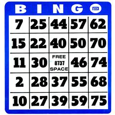 Free, customizable, printable bingo cards