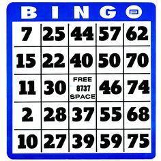 Free, customizable, printable bingo cards