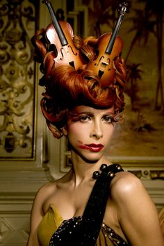 Queen's Sister Baroque inspired Make Up and Hair (2009) Music and Fashion photograph by Nancy S