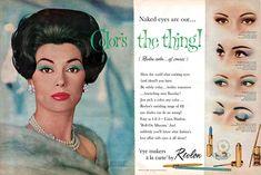 1960 Revlon eyeshadow advertisement.