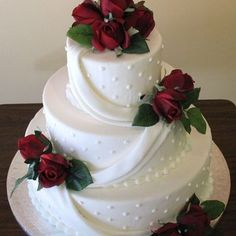 3-tier wedding cake | Yelp