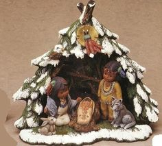 E280-Ceramic-Bisque-19-Piece-Kimple-Nativity-Set-with-Wigwam-Ready-to-Paint