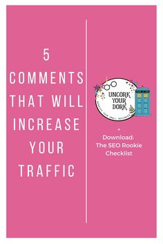 I go over 5 comment styles you can use to POLITELY get interest and action on your own posts.  It's all about creating community and NOT being a lazy blogger!  Click the image to repin OR to visit the post and snatch up the SEO Rookie Checklist download!