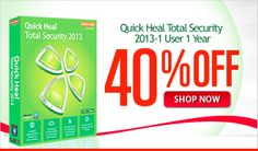 Quick Heal Total Security 2013-1 User 1 Year provides full protection for your computer against all sorts of threats. It also offers real-time cloud-based security protection. It restricts access to malware and other fraudulent and phishing websites. It provides PC Tune-up.