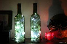 Как сделать светильник из бутылки вина своими руками