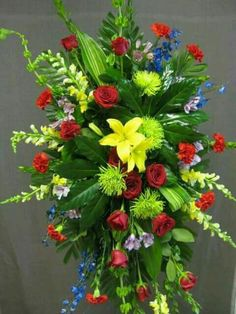 best ideas about Funeral sprays Church Flowers, Funeral Flowers, Wedding Flowers, Funeral Floral Arrangements, Large Flower Arrangements, Flower Shop Decor, Casket Flowers, Thanksgiving Flowers, Funeral Sprays