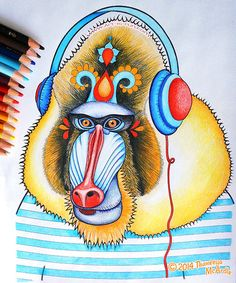 Mandrill Colored With Prismacolor Pencils By Thaneeya McArdle Free ColoringColoring BooksColoring