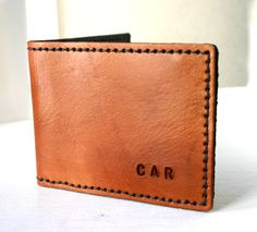 Deluxe BiFold. Mens leather bifold wallet by FatCatLeather on Etsy, $79.00