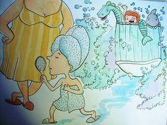 Santiago Régis #illustration #bathroom