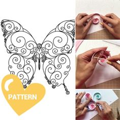Butterfly Video, Quilling Butterfly, How To Make Butterfly, Butterfly Pattern, Quilling Letters, Paper Quilling Patterns, Quilling Paper Craft, Quilling Instructions, Quilling Tutorial