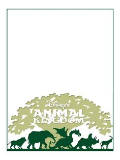 """Animal Kingdom - Project Life Disney Journal Card - Scrapbooking. ~~~~~~~~~ Size: 3x4"""" @ 300 dpi. This card is **Personal use only - NOT for sale/resale** Logos/clipart belong to Disney."""