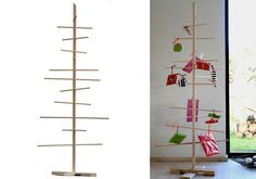 Beech wood trees / also like this idea for small gifts as an alternative to the stocking