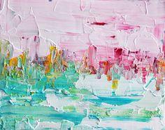 Abstract landscape 6 - Original impasto painting van Prismatixs via DaWanda