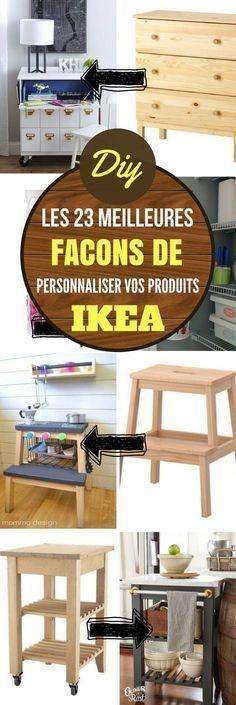 Dans cet article, vous allez découvrir 23 façons de personnaliser certains produits IKEA. Avec un peu d'ingéniosité, c'est fou tout ce qu'on peut faire ! En plus, vous n'avez pas besoin d'être le meilleur des bricoleurs pour y arriver. Ce sont des idées, donc vous pouvez vous en inspirer, faire pareil, ou faire totalement différemment #ikea #astuces #trucs #trucsetastuces #diy #astucesikea #bricolage #bricolagedujour